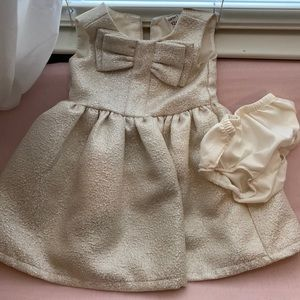 12m beige ivory carters sparkly dress